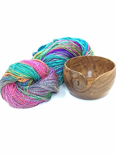 Darn Good Yarn, Handmade Travel Sized Yarn Bowl, Sheesham Wood, 1 Bowl