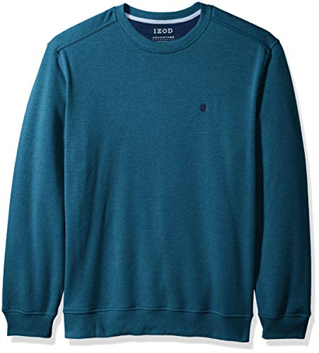 IZOD Mens Advantage Performance Solid Fleece Crew