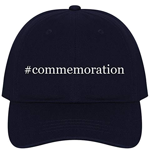 (The Town Butler #Commemoration - A Nice Comfortable Adjustable Hashtag Dad Hat Cap, Navy, One Size)