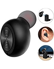 Bluetooth Earbud, ELEGIANT Mini Wireless Smallest Earphone Headset HD Sound BT4.1 Car Ear Plug, Magnetic Usb Charge+Mic+Hands-Free+6h Playtime for Smartphones Bluetooth Devices (Only One Earpiece)