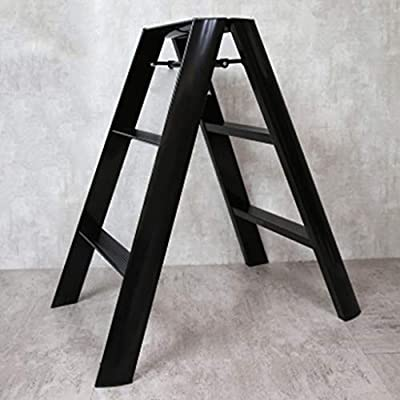 ZfgG Taburete de Escalera Plegable de aleación de Aluminio Escalera Ascendente Plataforma de Trabajo móvil Multiusos Escalera retráctil Antideslizante Capacidad de 150 kg (Color : Black): Amazon.es: Hogar