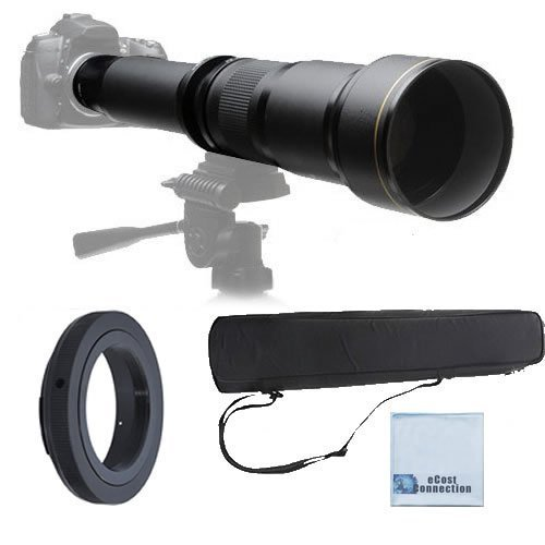 Elite Series 650-1300MM F/8-F/16 Super TelePhoto Zoom Lens with Manual Focus + T-Mount for Canon 1D, 5D. 5D MARK II, 5D MARK III, 6D, 7D, 10D, 20D, 30D, 40D, 50D, 60D, 70D DSLR Cameras & More [並行輸入品]   B01KM6P5T2