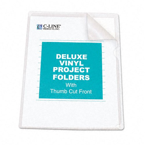 C-Line : Deluxe Project Folders, Jacket, Letter, Vinyl, Clear, 50/bx -:- Sold as 2 Packs of - 50 - / - Total of 100 Each