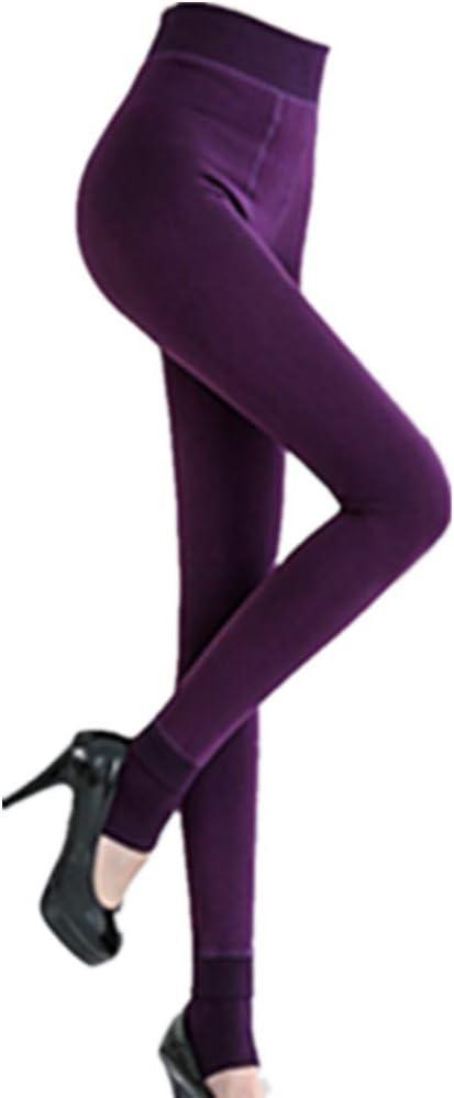 Kaki Kolylong Chaussettes haute Femme Pantalon Leggings Thermiques Etanches doubl/é en polaire chaude pour femmes filles hiver