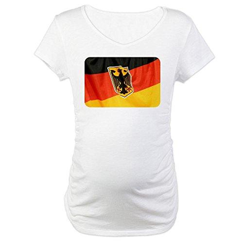 Royal Lion Maternity T-Shirt German Flag Waving - White, Large