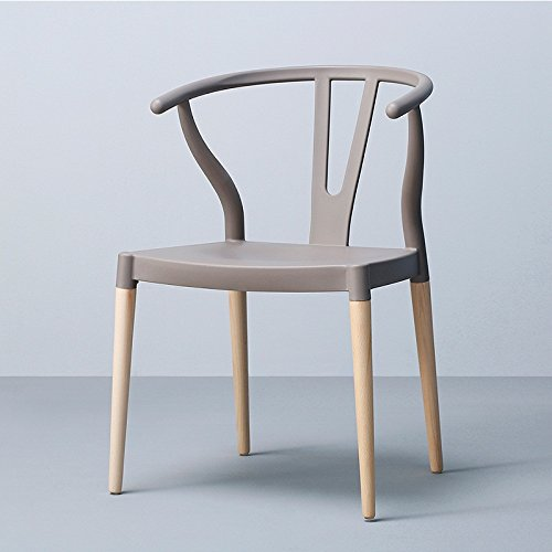 美しい 家北欧の中国の椅子/木製の背もたれの椅子/現代のシンプルな世帯交渉のテーブルとチェア -スツール ( 色 : グレー ) B07BNHMZHY グレー グレー