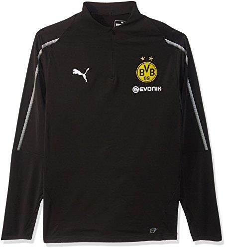 PUMA Men's BVB 1/4 Training TOP with Sponsor Logo, F Black, S