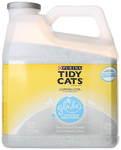 Tidy Cats Cat Litter, Clumping, Glade, 14-Pound Jug, Pack of 3 41qbCNSeGLL