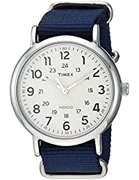 Men's TW2T29200 Weekender 40mm Blue/Cream Nylon Slip-Thru Strap Watch
