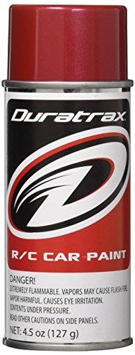 DuraTrax Polycarbonate Radio Control Vehicle Body Spray Paint, 4.5 Ounces, Metallic Red