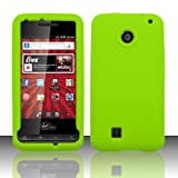 virgin mobile pcd chaser - Green Silicone Skin Case Cover For PCD Chaser VM2090 (Virgin Mobile)