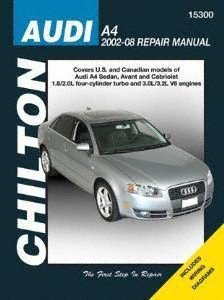 Chilton Repair Manual for Audi A4, Avant & Cabriolet ()