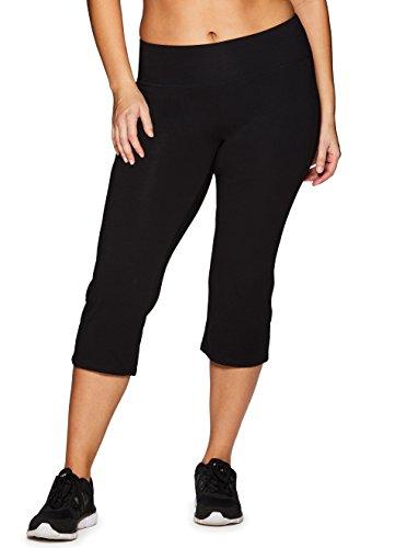 RBX Active Women's Plus Size Cotton Spandex Leggings Span Black 2X