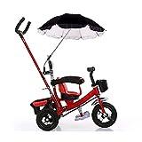 Wheelchair Umbrella, Baby Stroller Umbrella Pushchair Cover Parasol for Beach, UV Protection, Sun, Rain Outdoor Umbrella Black