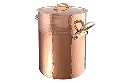 Mauviel M'tradition 2157.24 13.7-Quart Soup Pot and Lid with Bronze Handle