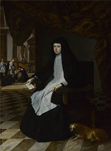Oil Painting 'Juan Bautista Martinez Del Mazo Queen Mariana Of Spain In Mourning ' Printing On Polyster Canvas , 10 X 14 Inch / 25 X 35 Cm ,the Best Gift For Relatives And Home Gallery Art And Gifts Is This Imitations Art DecorativePrints On