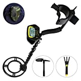 MARNUR Metal Detector Waterproof Handheld LCD Display Metal Finder Treasures Seeking Tool with Battery Shovel Scoop for Easy Travel Kid and Adults