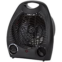 Konwin Fh-1603a Compact Fan Heater With 3-settings, Black, 120v, 1500w