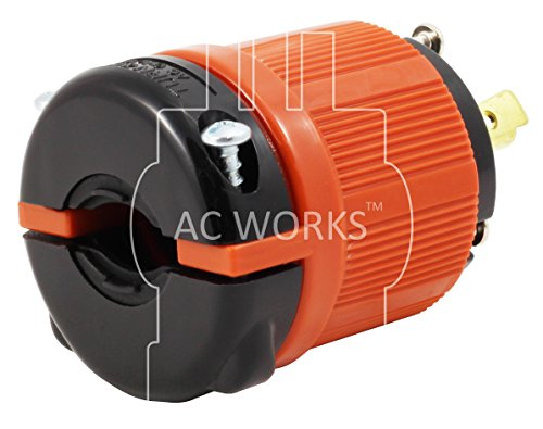 AC WORKS [ASL630PR] NEMA L6-30 30Amp 250Volt 3Prong Locking Male Plug and Female Connector UL, C-UL Approval by AC WORKS (Image #3)