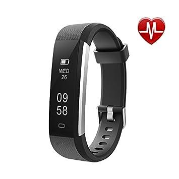 TOOGOO Rastreador de Fitness con Monitor de Ritmo cardiaco,Reloj Slim Sports Activity Tracker,