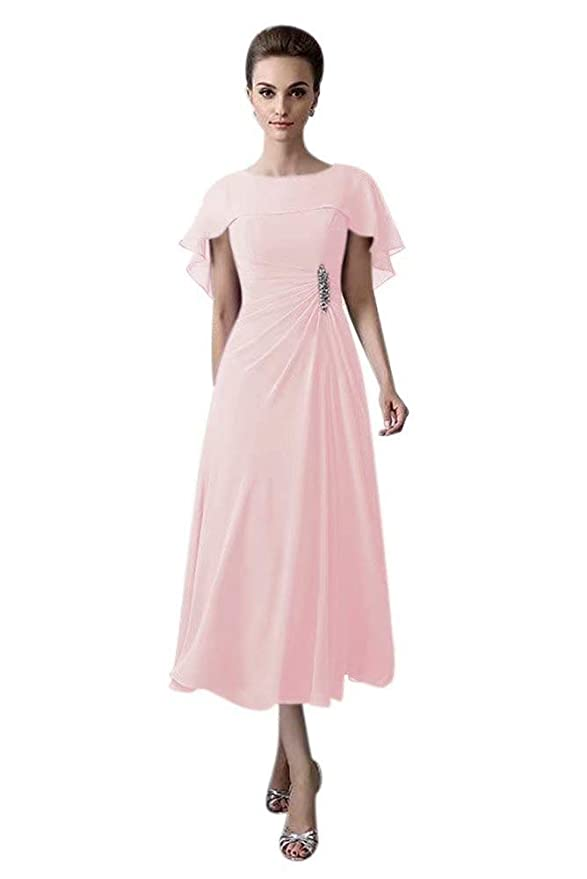 1930s Day Dresses, Afternoon Dresses History QueenBridal Short Tea Length Mother of The Bride Plus Size Formal Cocktail Dress QU110 $85.90 AT vintagedancer.com