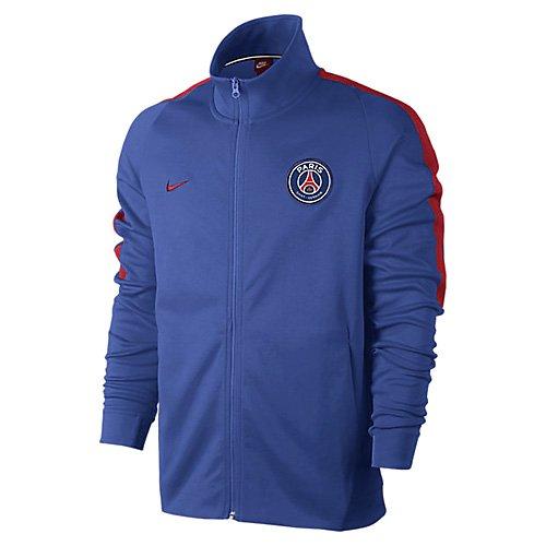 2017-2018 PSG Nike Authentic Franchise Jacket (Game Royal) B078T1DW3GBlue Large 42-44\