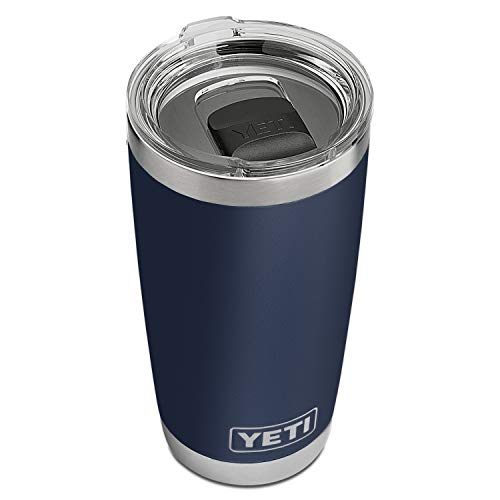 YETI Rambler 20 oz Tumbler, Stainless Steel, Vacuum Insulated with MagSlider Lid, Navy