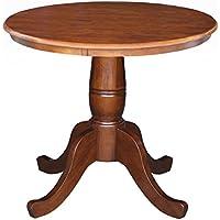 International Concepts 30-Inch Round Pedestal Table, 30-Inch, Espresso