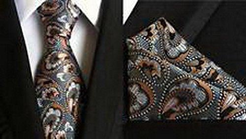 Jacob AleX #46972 Silk Novelty Paisley Gray Men's