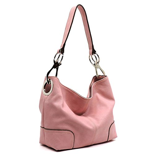 Vegan faux leather bucket shoulder handbag