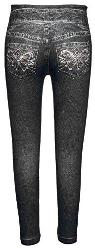 Crush Toddler Crush Girls Printed Denim Rhinestone Pockets Legging Pants 2T - 4T (Rhinestone Girls Jeans)