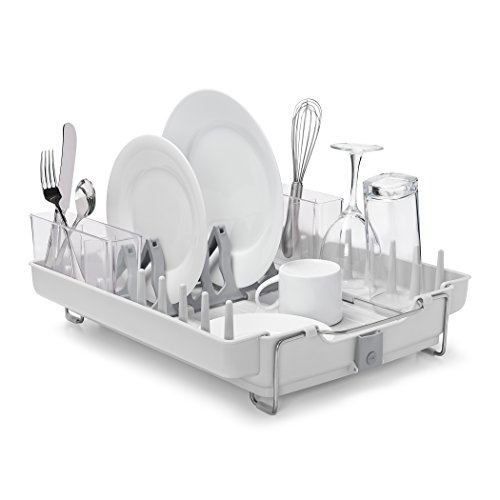 OXO Good Grips Convertible Foldaway Dish Rack Drying Rack - Gray (Large Image)