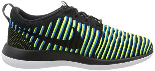 Nike Womens Roshe Two Flyknit Nero / Nero-foto Blu-volt