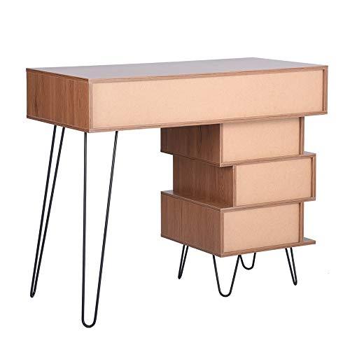 Aingoo Writing Desk, Modern Computer Desk with Bookshelf Efficient Space Storage Workstation by Lingoes (Image #5)