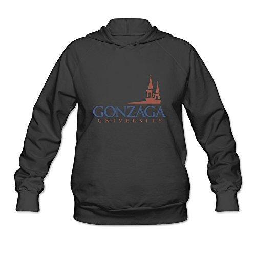 Price comparison product image Gonzaga University Logo Fun 100% Cotton Black Long Sleeve Hoodie For Adult Size XL