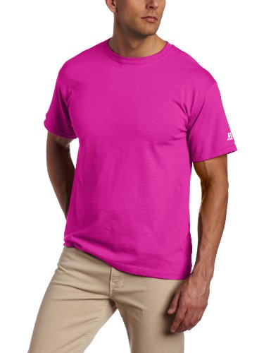 Russell Athletic Men's Athletic Crew Neck Tee - Pink - C03 - L
