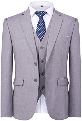 スーツ メンス スリーピース 2つボタン XS-5XL 無地 長袖 全6色 礼服 カジュアル スリム 大きいサイズ