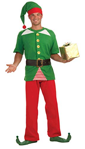 Forum Novelties Jolly Elf Adult Costume White -