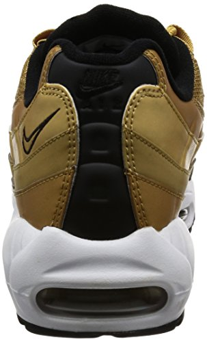 Nike Men's Air Max Modern Essential Low-Top Sneakers Metallic Gold, University Red
