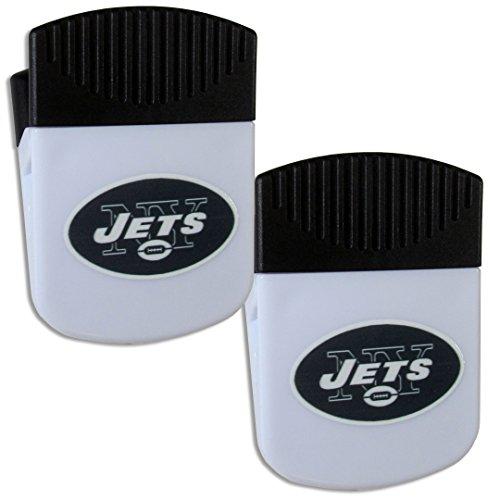 Siskiyou NFL New York Jets Chip Clip Magnet with Bottle Opener, 2 Pack