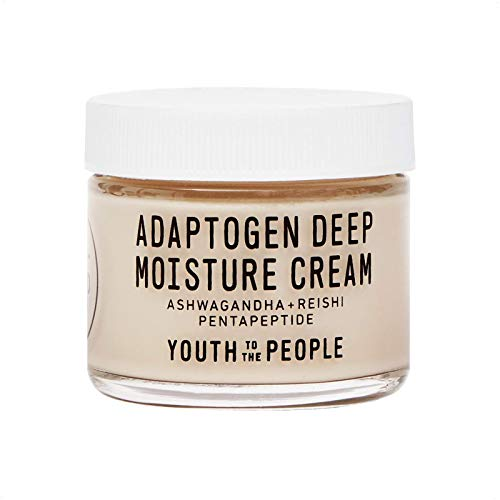 Youth To The People Adaptogen Deep Moisture Cream – Calming + Hydrating Face Cream with Pentapeptide, Rhodiola + Reishi…