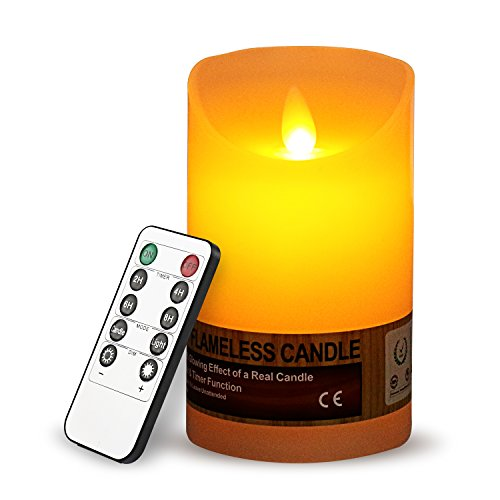 LED Flameless Candle with Remote Control By Battery-Powered