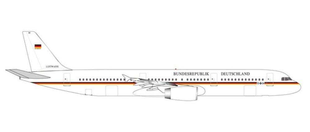 Herpa 531986 Luftwaffe A321 Flugbereitsch Farbe
