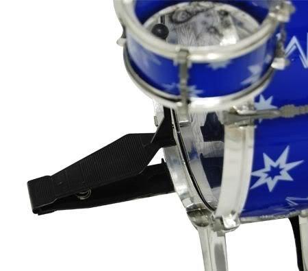 41qbIs 0gfL - 11pc Kids Boy Girl Drum Set Musical Instrument Toy Playset BLUE
