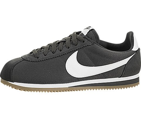 8ab0789ce3bb1 Galleon - Nike 807472-013  Mens Classic Cortez Nylon Anthra White-Gum Light  Running Shoes (11 D(M) US Men)