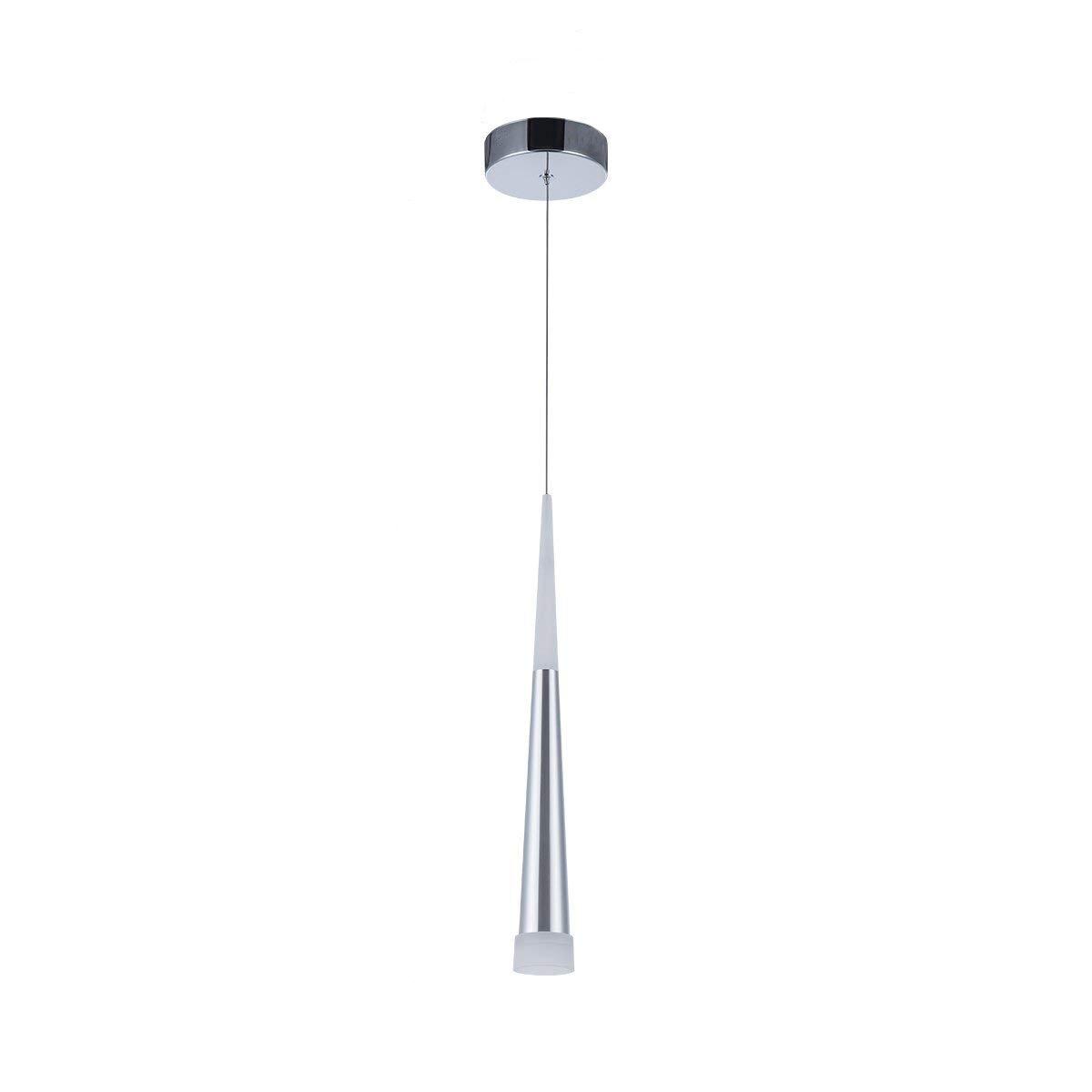 Lámpara colgante moderna, STARRYOL 7W LED Lámpara de techo con estilo cono, perfecta para