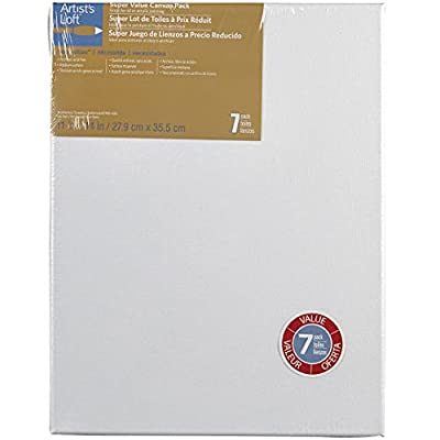 Artists Loft Necessities 11 x 14 Super Value Canvas Pack