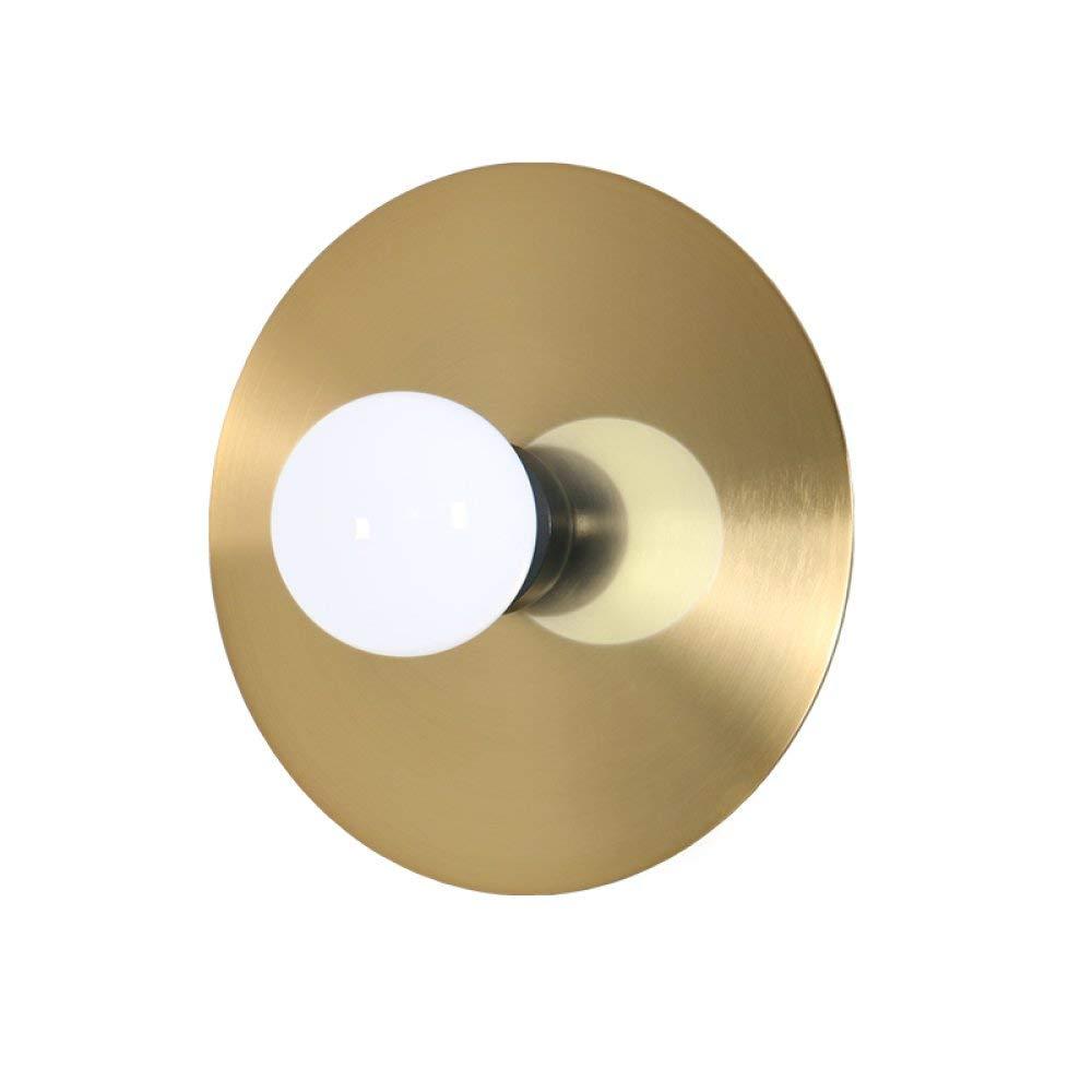 BXJ LEDウォールランプモダンベッドサイドデンベッドルーム屋根裏廊下ラウンドシンプルカフェバー照明器具天井灯アイアンウォールライトヨーグルトホワイトガラスランプシェード5W E27(起毛) B07R7GPTCP