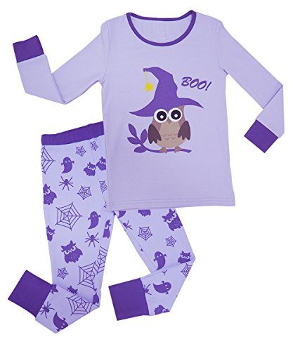 MAI CHUS Toddler Girls Sleepwear Halloween Long Pajamas Set Kids PJ's Two Piece 100% Cotton Clothes Size -
