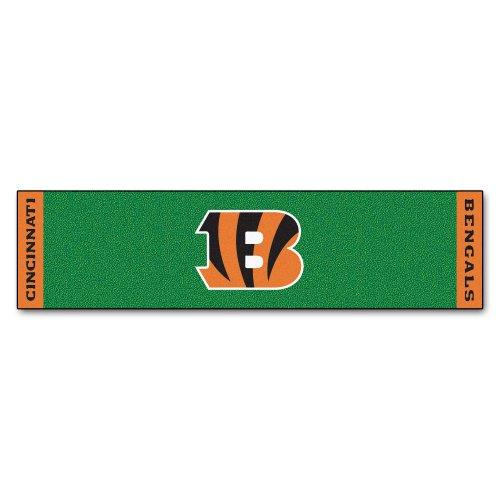 Fanmats NFL Cincinnati Bengals Nylon Face Putting Green Mat by Fanmats
